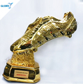 The Resin Gold Foot Trophy For Football Match Award