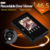 SIM card motion detection infrared digital door viewer peephole glass lens for home security