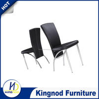Netherlands metal dining room chairs/luxury high back pu leather dining chairs/white/black dining chairs