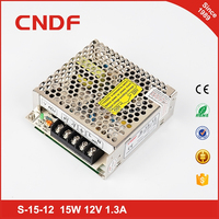 CNDF 2 years warranty 15W 12V 1.3A single switching power supply