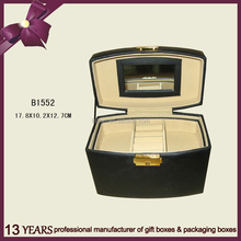 Fashion Design Leather Cosmetic Box/Jewelry Box With Mirror