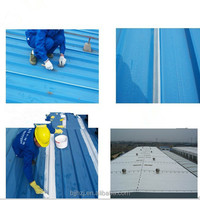 Spray waterproof coating for metal roofs