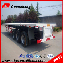 well accepted 60t flatbed semi trailer frame price for transportation