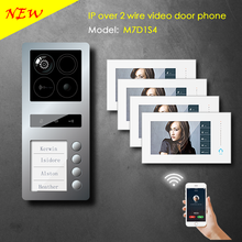4 family 2 wire IP video door phone based on android / support SIP APP
