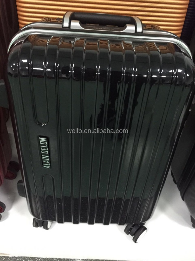 abs+pc aluminum frame trolley luggage 3pcs set