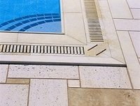 Swimming pool marble tiling