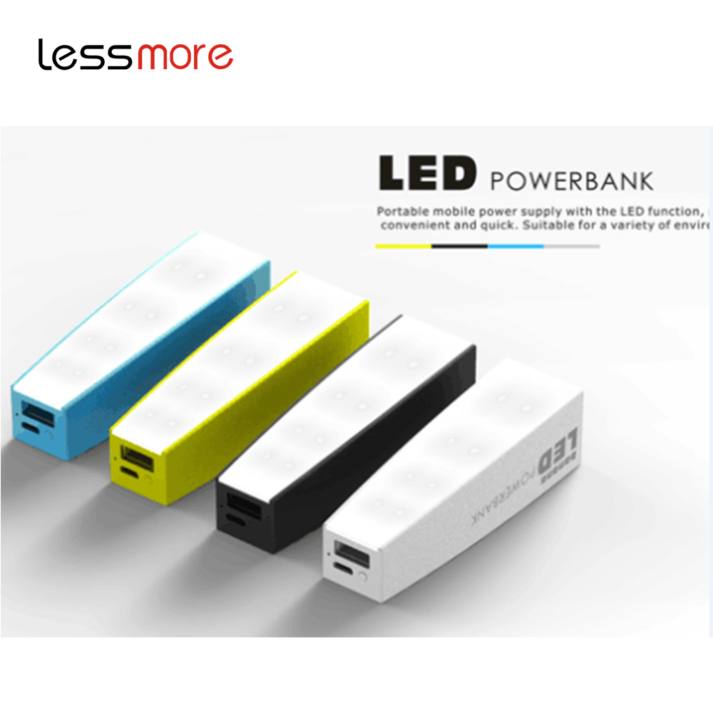 New Item latest craze Stylish Reading Room Neon Lights led power bank 2600mah; Led light portable power bank 2200mah