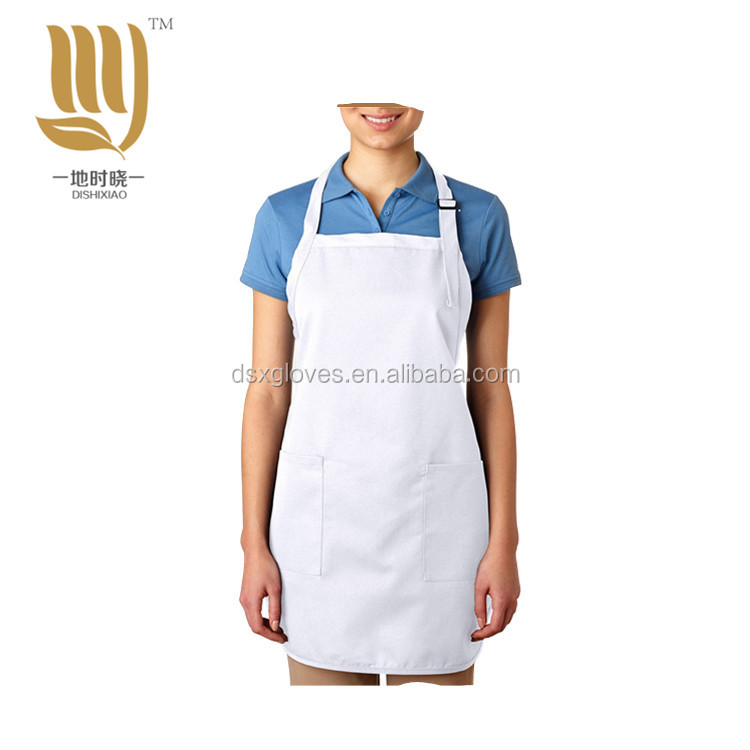Adjustable Neck Loop Apron Plain White Aprons Cotton