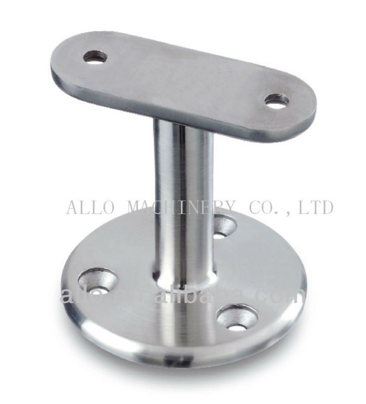 Strong stainless steel adjustable vertical handrail bracket fixed flat saddle