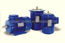 Three phase standard efficiency aluminum induction motors