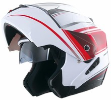DOT approved modular touring motorcycle helmet with double visors casco moto