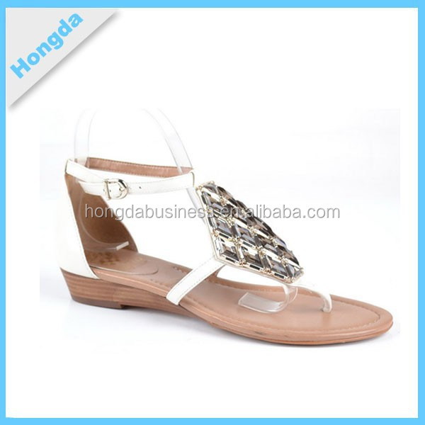 2015 Top Fashion Sequins Lady Fancy Flat Sandals