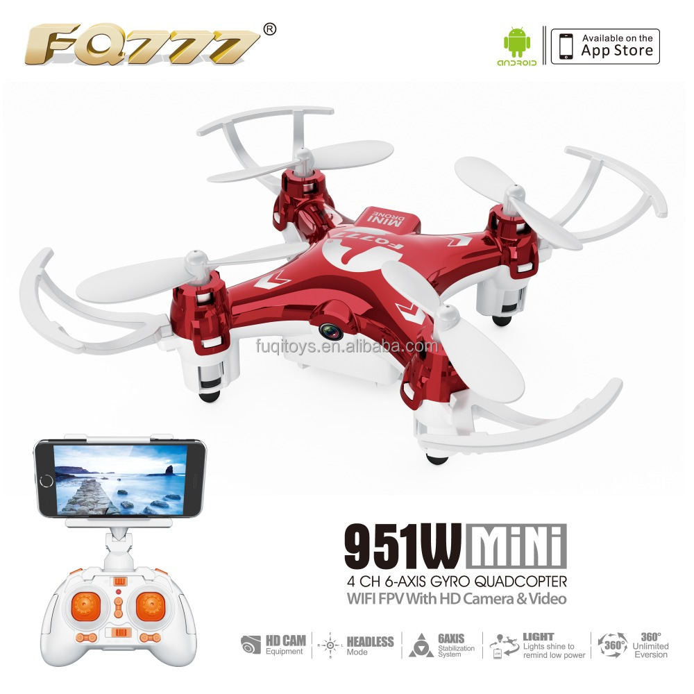 Mini wifi fpv camera drone quadcopter professional racing drone fpv goggles FQ777 951W fuqi model with CE ROHS FCC certificate