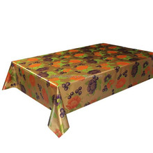embossed double side golden table cloth/pvc table cover