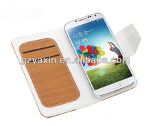 folio case for samsung galaxy s4,flip wallet leather cell phone case for samsung galaxy s4 i9500 grand