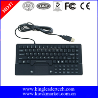 Waterproof industrial USB silicone keyboard with integrated touchpad