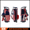 "Customized PU Leather Golf Stand Bags, 9"" / 4 Way Top"