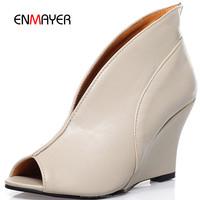Fancy style peep toe women wedges shoes fashion ladies party shoes wholesale