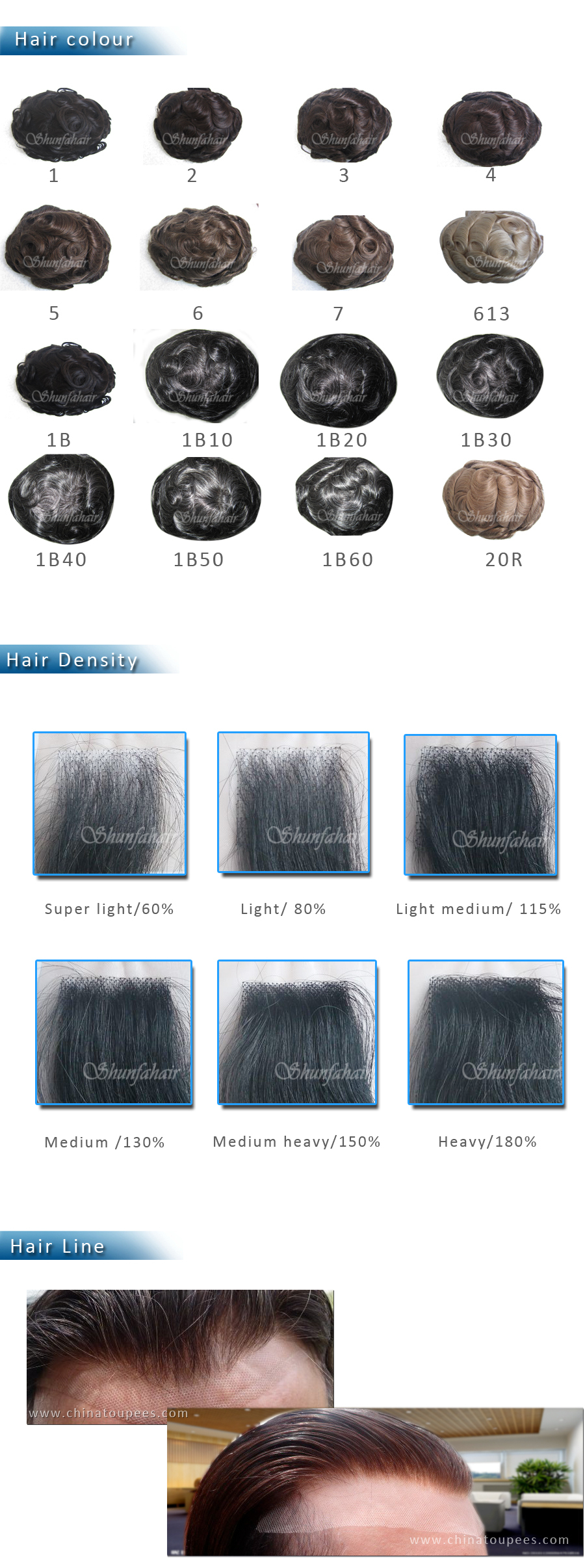 Customized vloop in front inject hair toupee for men