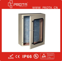 IP66 Waterproof Wall Mounted Enclosure With Plexiglass and Inner Door For Electronics