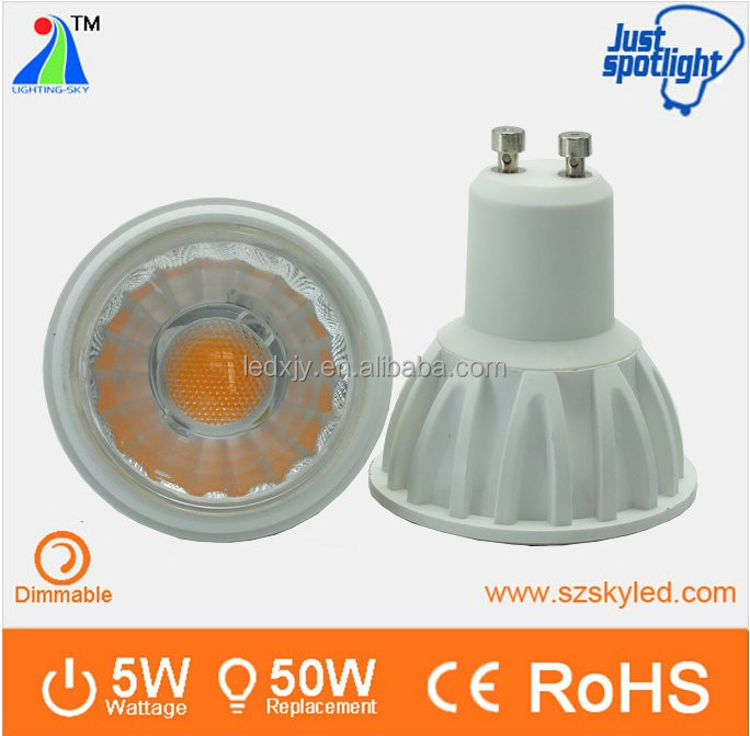 shopping-rush goods 5w led gu10 bulb COB 60 degree led spot GU10