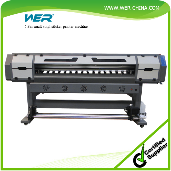 2016 hot sale 1.8m WER ES1801 car sticker and self-adhesive pvc vinyl printing machine 1.8 m ,plotter eco solvente