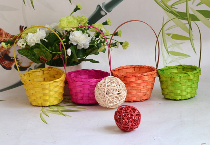 wholesale easter baskets Easter decoration items wholesale cheap colorful easter basket