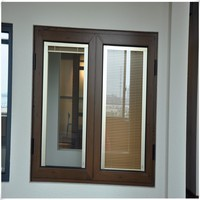 aluminum profile cheap casement windows and french casement window with blinds