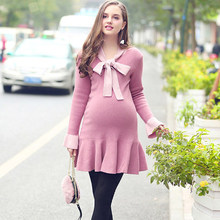B9217 High Quality Maternity Wear 100% Cotton Pregnant Women Dresses