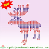 Christmas rhinestone hot fix motif design (54)