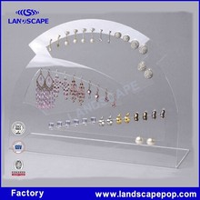 Acrylic PDQ dangler jewellery display showcase for wedding and the crazy party/plexiglass jewelry countertop display stand