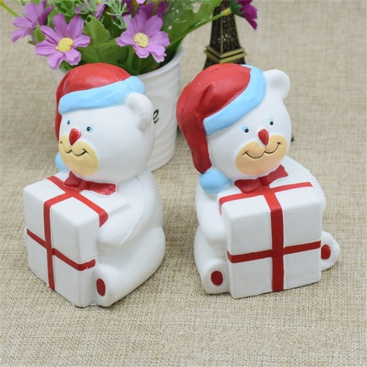 11.5CM Squishy Cartoon Christmas Bear Slow Rising Toys for Kids