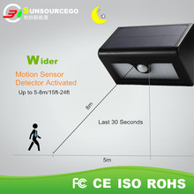 led wall mounted solar motion sensor light security light with 48 leds and waterproof