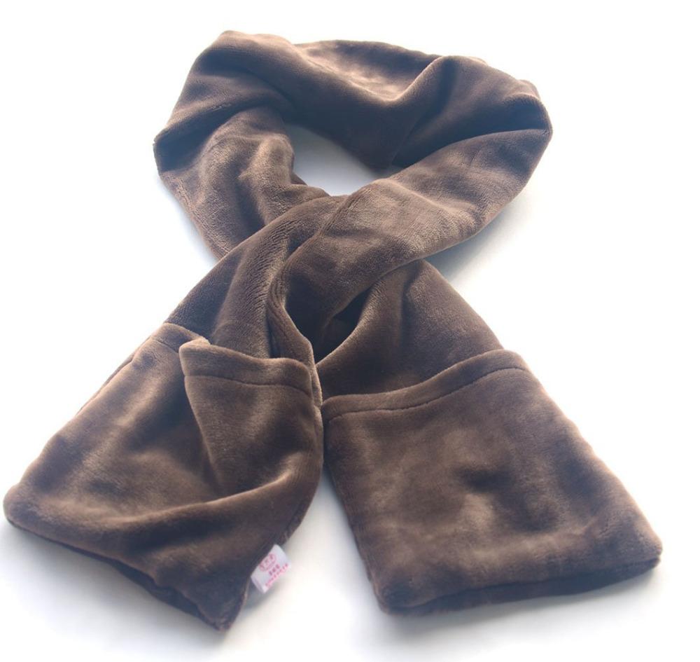 usb heated neck scarf with warm pocket winter warm scarf