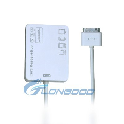 3 USB HUB Connection Kit MS/M2/TF/SD Card Reader for iPad iPhone 4 iPhone 3G 3GS