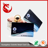 Factory supply standard size glossy fabric shade pvc rfid card