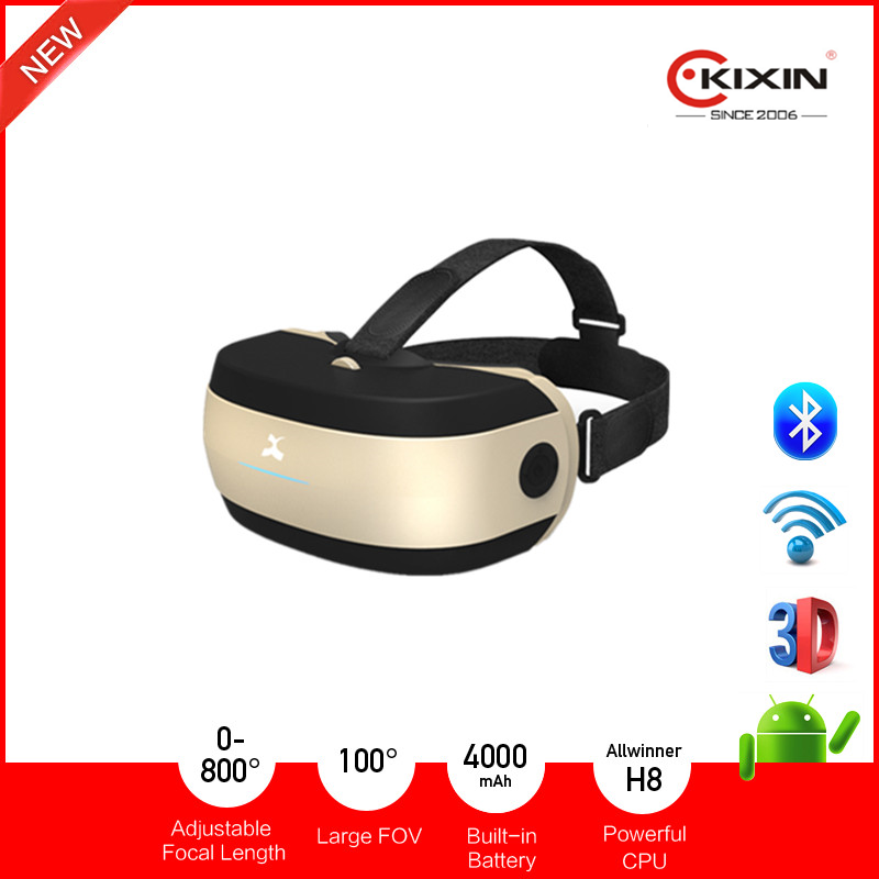 2016 Latest All in One VR Headset, 3D Virtual Reality Glasses with Octa-Core CPU 2G+16G +128G Memory