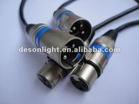 DMX512 dmx cable 3 pin connector stage lighting together