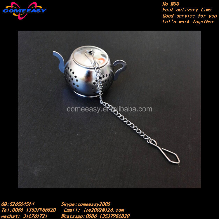 stainless steel house shaped tea leaf bag locking tea infusers metal