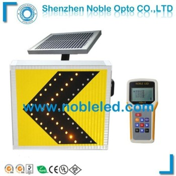 solar led directional road sign
