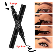 HANDAIYAN double ended triangle winged Eyeliner Stamp waterproof long lasting liquid eye liner pen vamp style wing stamp