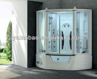 G157 Acrylic Steam Shower cabin combo with spa bathtub 2 person w/TV/MP3/MP4