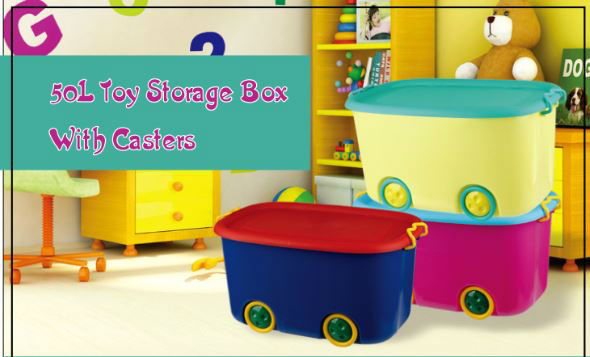 STORAGE BOX FOR 50L Toy Storage Case With Casters
