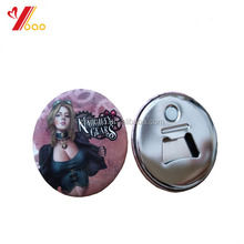 Promotional gift souvenir round tin button badge bottle opener,tin opener