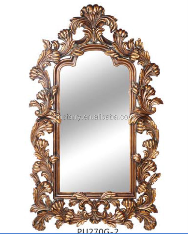 Antique large gold mirror frame for decoration