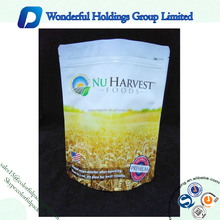 High Barrier Food Grade Aluminum Foil Resealable Stand up Pouch Ziplock Wheat Flour Packaging Bags