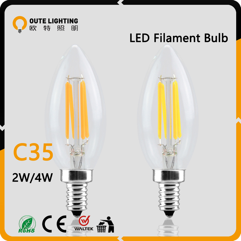 Indoor Decorative C35 Rohs Led Filament Bulb