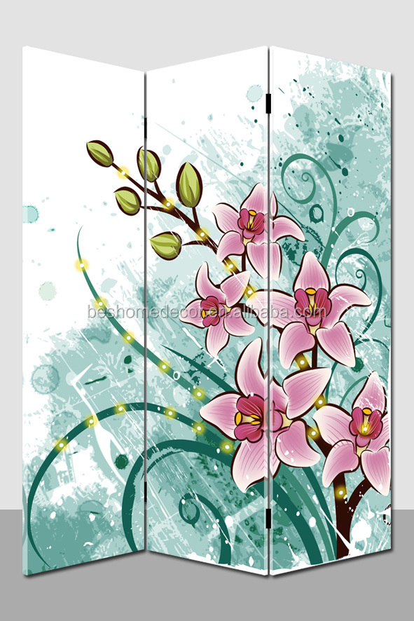 Cartoon flowering straw decorative accordion room dividers