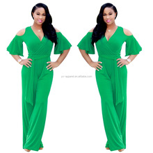 Women 2017 sexy one piece jumpsuit with long pants