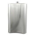 178oz Stainless steel hip flasks laser welding mirror flask with leather package